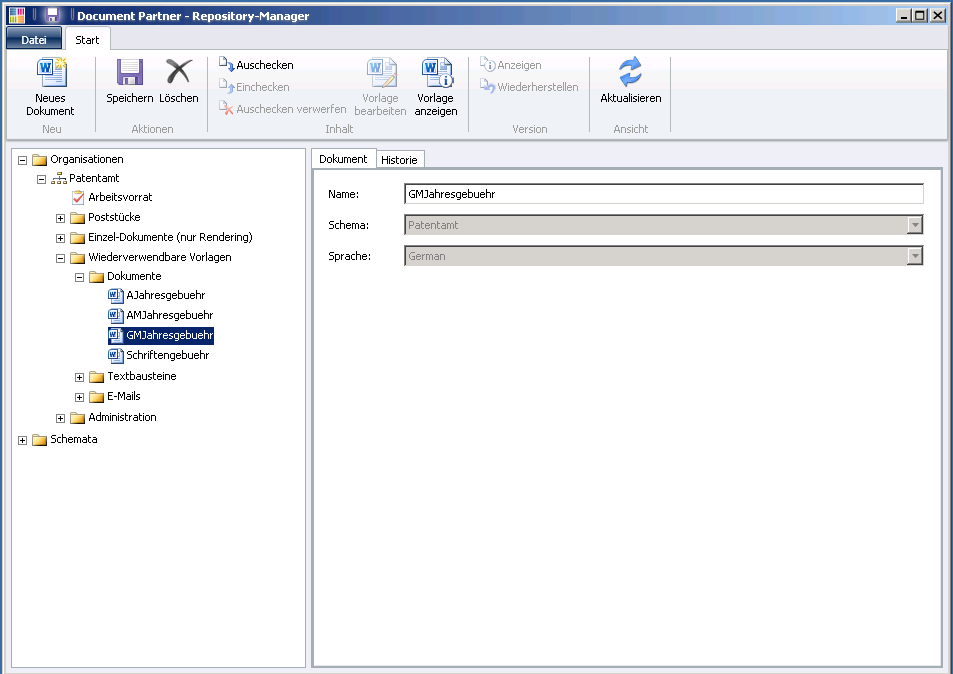Document Partner Repository Manager