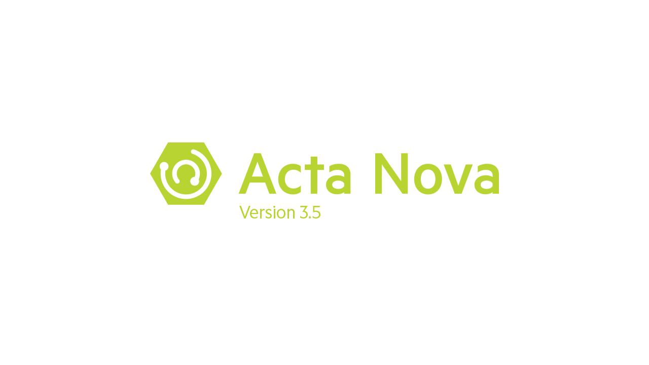 Acta Nova Version 3.5 SP1