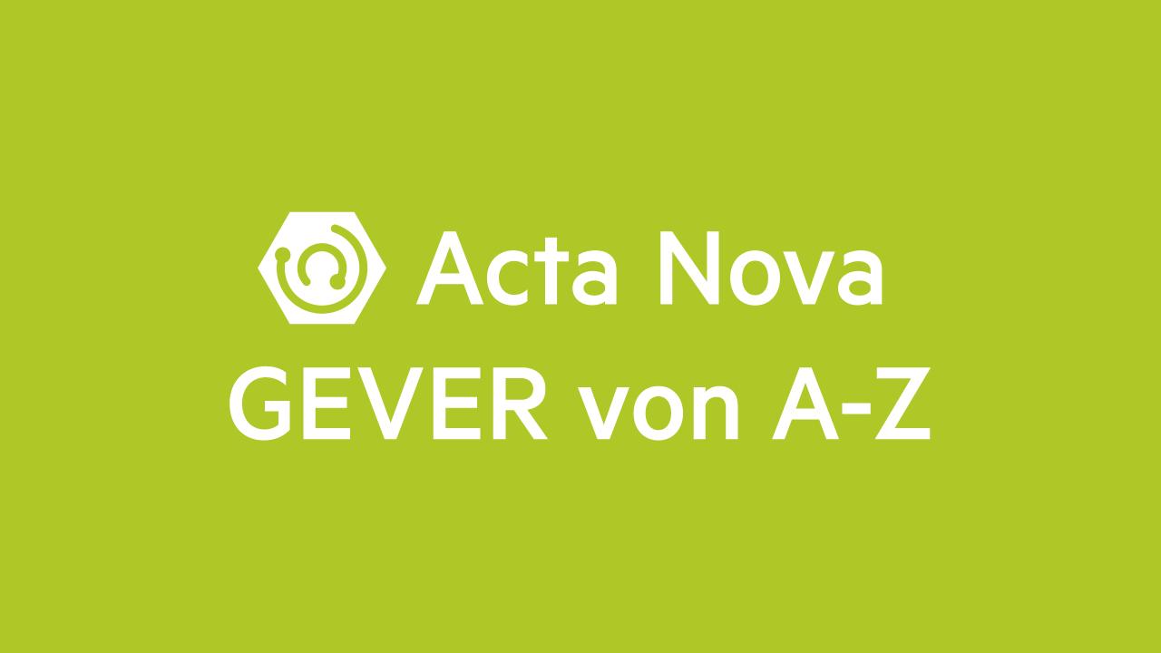 Gever Von A Z